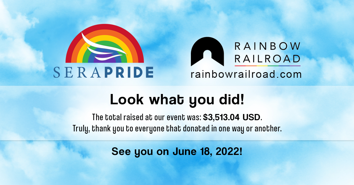 Thank You For Helping Make SeraPRIDE A Huge Success!